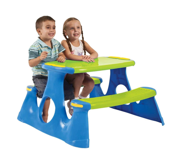 LGVSHOPPING Kindertisch mit Tisch PIC NIC für 4 Kinder
