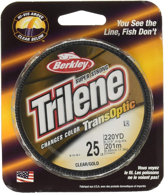 Berkley Trilene Transoptic Clear//gold 15lb 220yd Fishing Line