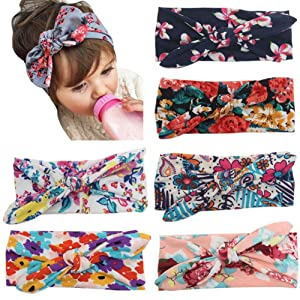 Chnli 5pcs Baby Girls Toddler Lace Bow Flower Hairband Headband Hair Band Accessories