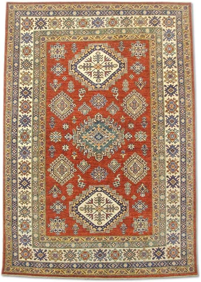 Pak Persian Rugs - Alfombra (algodón, 152 x 218 cm), Color Rojo Burdeos y Rojo: Amazon.es: Juguetes y juegos