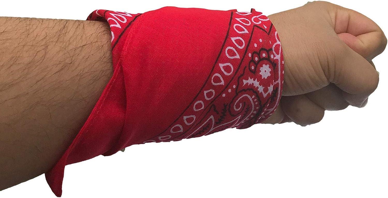 56 x 56 cm Bandane in cotone con motivo cachemire fazzoletti da cowboy Bandana con custodia a rete unisex