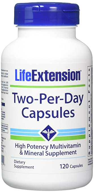 Life Extension Two Per Day Capsules, 120 Count (2 Pack)