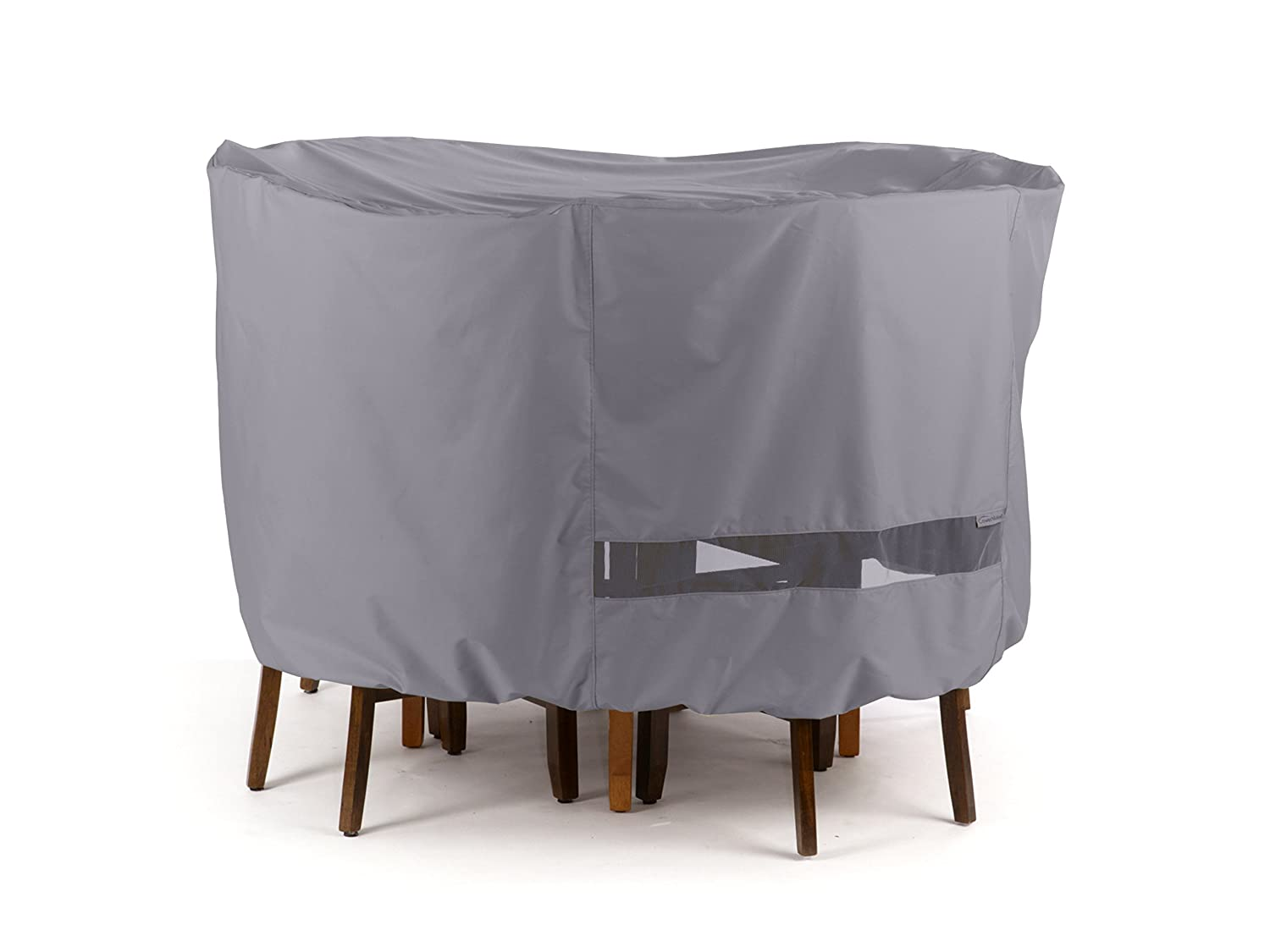 Covermates Round Dining Table Chair Set Cover 72DIAMETER x 30H Elite Collection 3 YR Warranty Year Around Protection – Charcoal