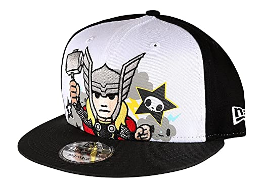 a873c895d5e Image Unavailable. Image not available for. Color  Tokidoki Marvel Thor  Thunder New Era 9Fifty Men s Black Embroidered Snapback Hat