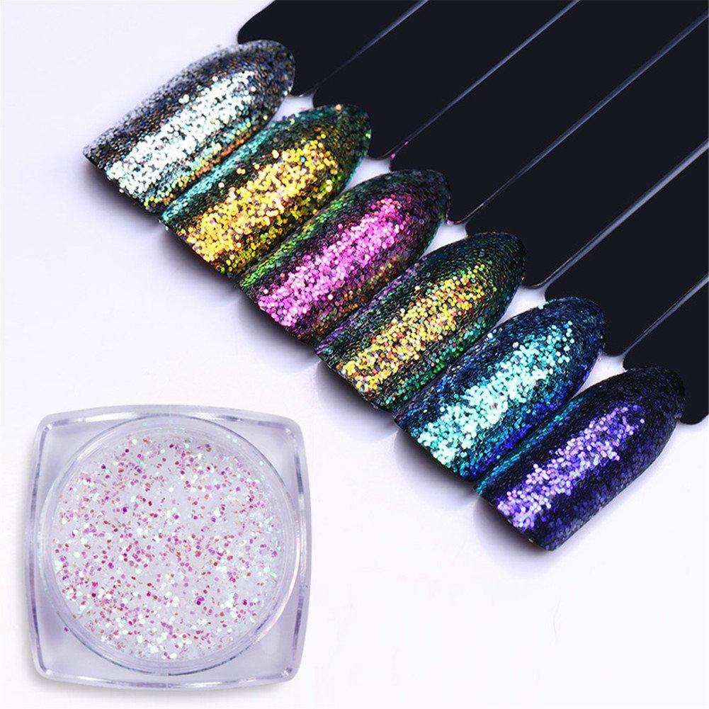 Born Pretty Nail Art Chameleon Animal Glitter Shinning AB Color Sequins Flakies Manicure Paillette Powder