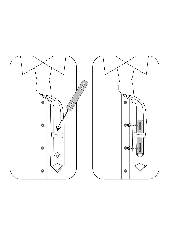 DAS KRAWATTENBAND La cinta de corbata (3 STK.) Discreto ...