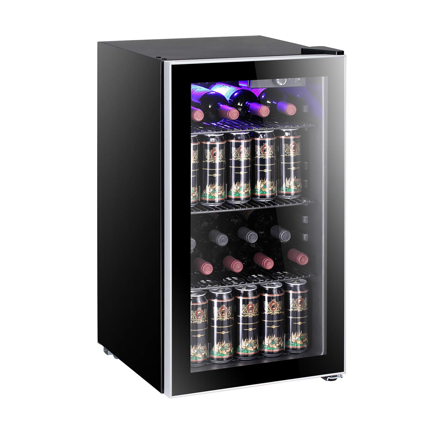 26 Bottle Wine Cooler - Compressor Wine Cellar - Counter Top Wine Chiller- Cabinet Refrigerator with Glass Door (26 Bottle)