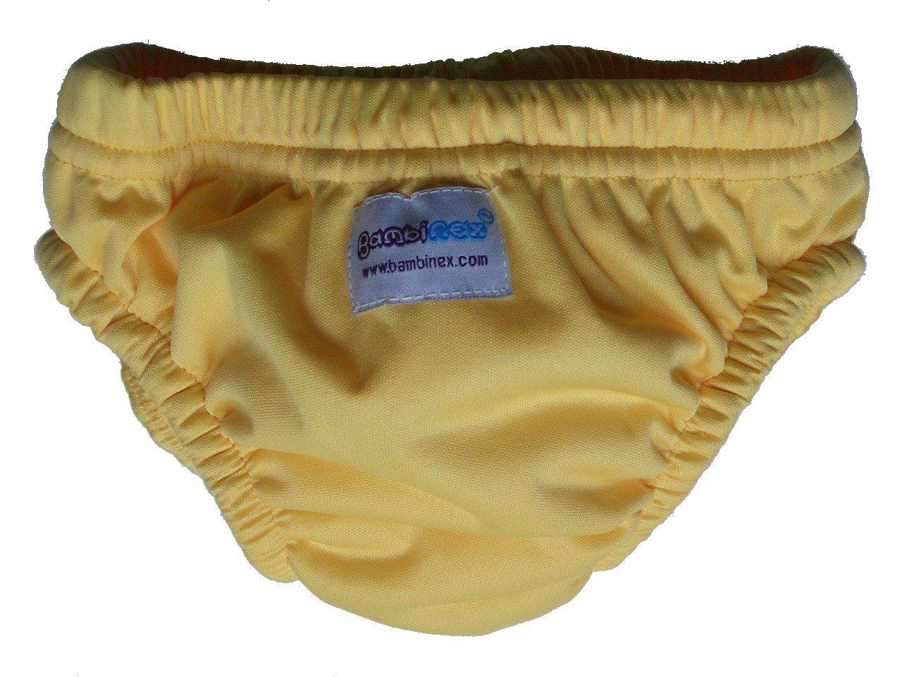 Bambinex 031850YE - Pañal de natación, talla pequeña, color amarillo: Amazon.es: Bebé