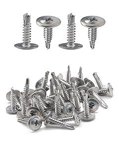 """IMScrews 100pcs #8 x 1/2"""" Self Drilling Truss Head Screws Standard Thread Wood Work MDF 401 Stainless Steel"""