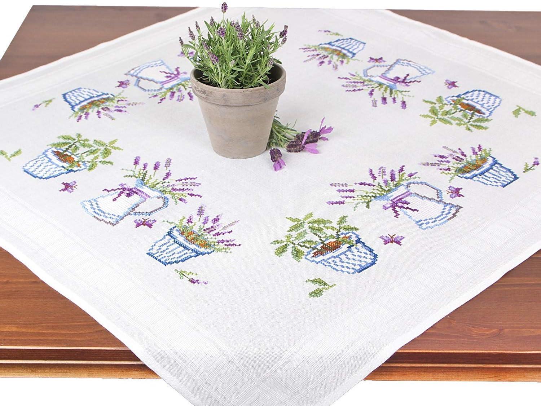 Merejka Kreuzstich-Set Felder von Lavendel und Sonne Motiv