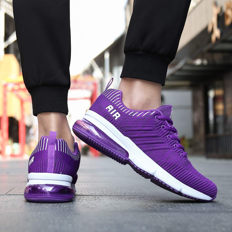 Mens Womens Lightweight Athletic Air Cushion Mesh Running Training Walking Sneakers