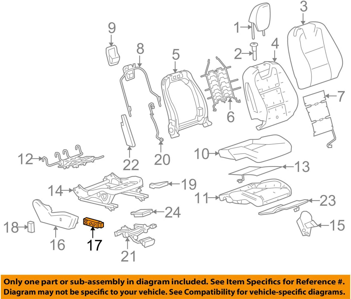 GM 92225806 SWITCH ASM-F//SEAT ADJR