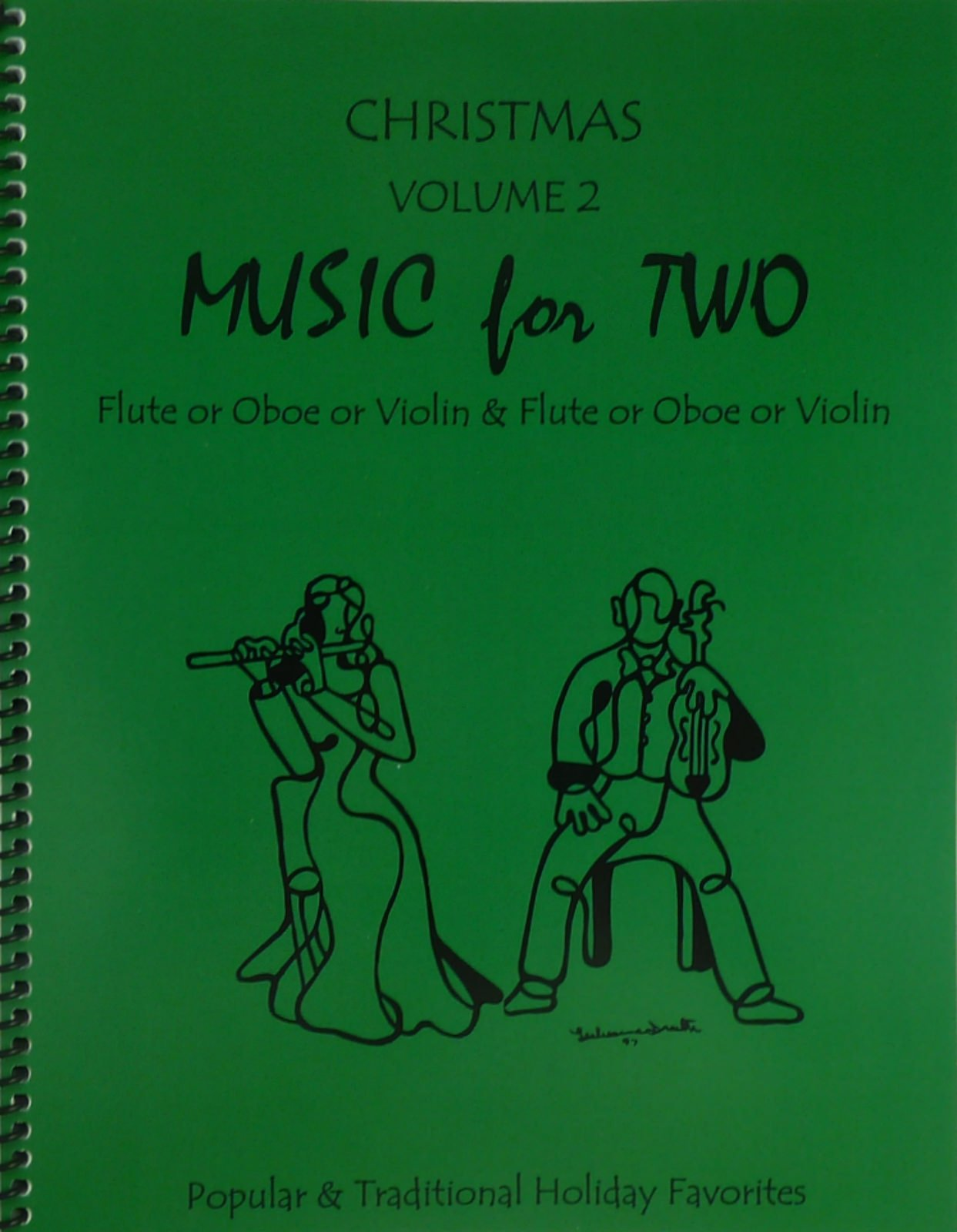 Music for Two, Christmas Volume 2 for Flute or Oboe or Violin & Flute or Oboe or Violin