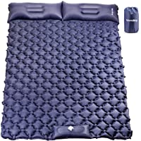 VECUKTY Inflatable Camping Sleeping Pads with Pillow, Camping Air Mat with Pump, Upgraded Ultralight Durable Waterproof…