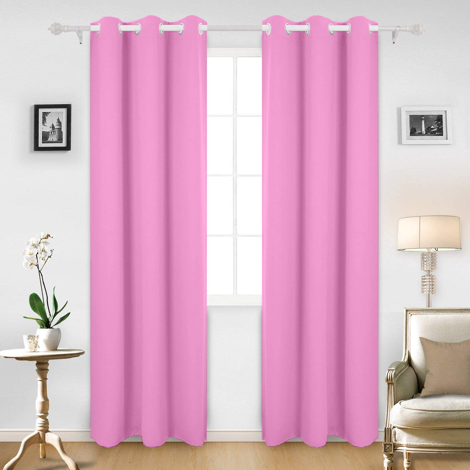 Cloth Fusion Valance Blackout Curtains Set of 2- with 2 Tie
