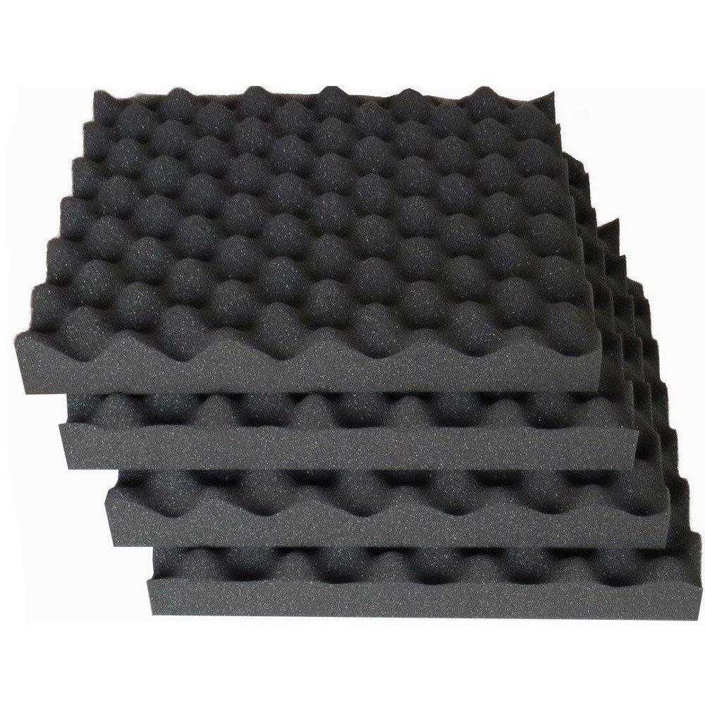 HOUTBY Acoustic Foam Egg Studio Sound Proofing Treatment Absorption Silent Coat Sound Absorber 50X50X3cm