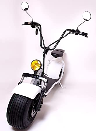 eDrift UH-ES295 2.0 30MPH Electric Fat Tire Scooter Moped with Shocks 2000w Hub Motor Harley E-Bike