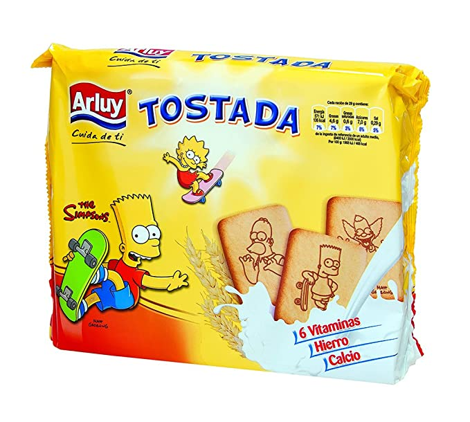 Arluy Galletas Tostada Simpsons - 720 gr