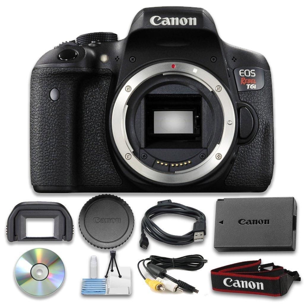 Canon EOS Rebel T6i Digital SLR (Body Only) - Wi-Fi Enabled International Version (No warranty)
