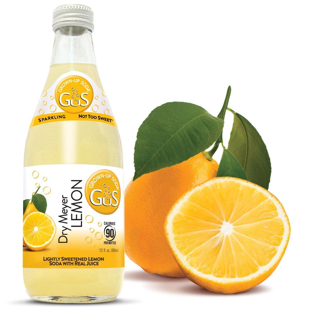 amazon com gus grown up soda dry meyer lemon 12 fluid ounce