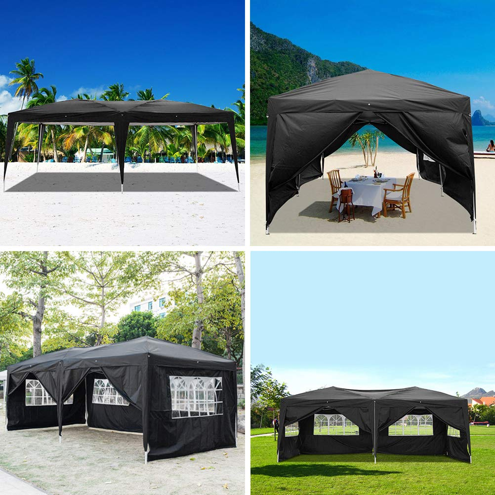 Blacgic Folding Tent Protable Instant Wedding Party Gazebo Pavilion with 6 Removable Sidewalls by Blacgic (Image #4)