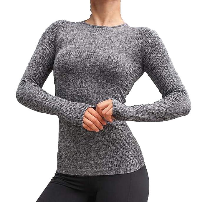 Amazon.com: Camiseta deportiva de manga larga para mujer ...