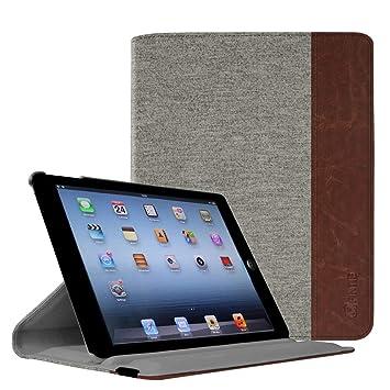 Fintie Funda para iPad 4/3 / 2 - Carcasa de Múltiples Ángulos con Función de Soporte y Auto-Reposo/Activación, Denim Gray