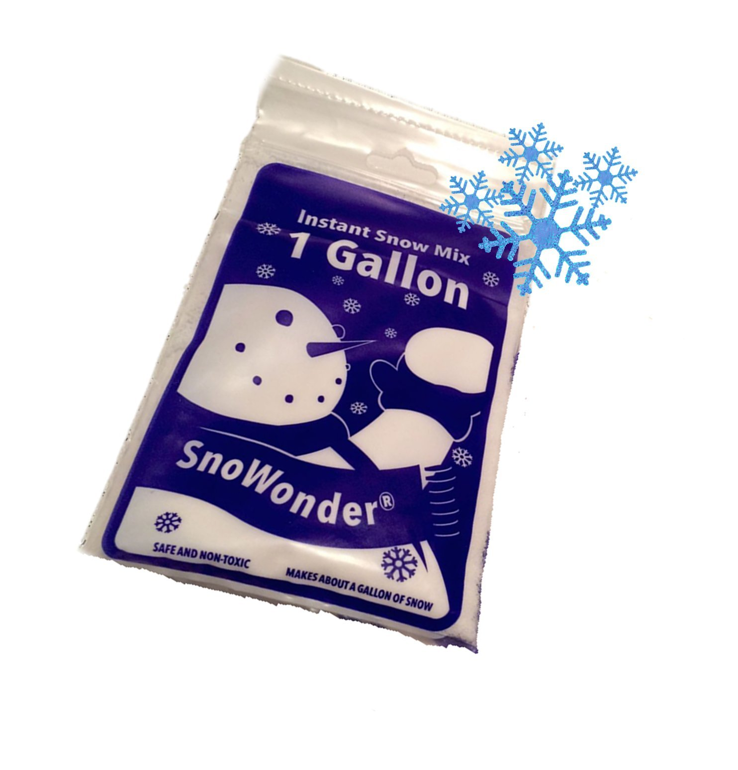 SnoWonder Instant Artificial Snow One Gallon Mix - Bonus Projects eBook - Home Decor - Seasonal Accents - Classroom Science Projects (1)
