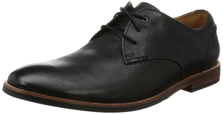 Clarks Broyd Walk, Zapatos de Cordones Derby para Hombre 44.5 EU Negro (Black Leather)