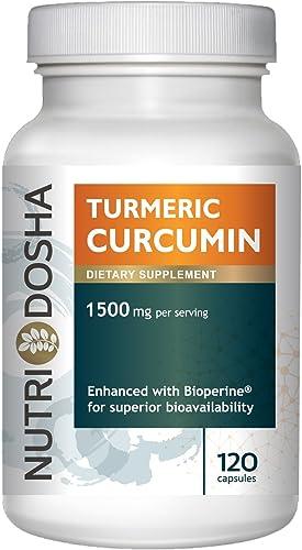 1500 mg Active Curcuminoids in 95 Standardized Turmeric Curcumin Extract with Bioperine for Maximum Absorbency – Highest Potency Ayurveda Curcuma Longa Tumeric Root Powder,2 pills per svg 120 CT
