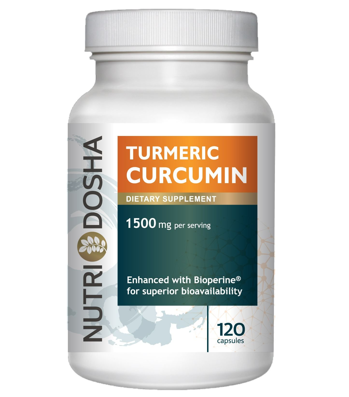 1425 mg Active Curcuminoids in 95% Standardized Turmeric Curcumin Extract with Bioperine® for Maximum Absorbency - Highest Potency Ayurveda Curcuma Longa Tumeric Root Powder | 120 vegetable capsules | 2 pills per svg