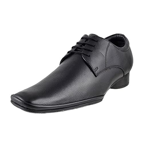 be79e5b55c76 Metro Men s Black Leather Formal Shoes-7 UK India (41 EU) (19-3924-11-41)  Buy  Online at Low Prices in India - Amazon.in