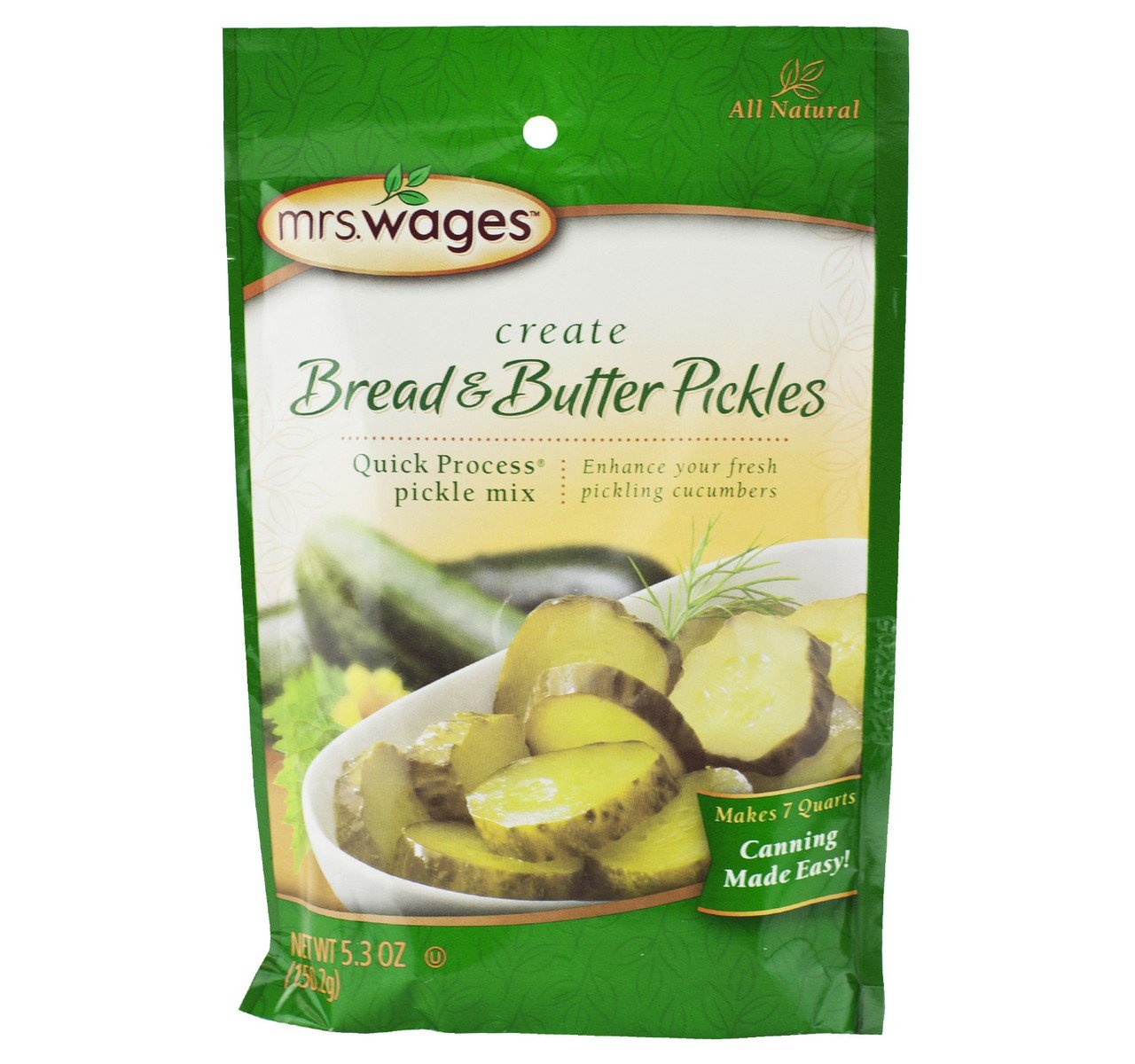 Mrs. Wages Bread & Butter Pickle Mix, 5.3 Oz. Package (Pack of 4)