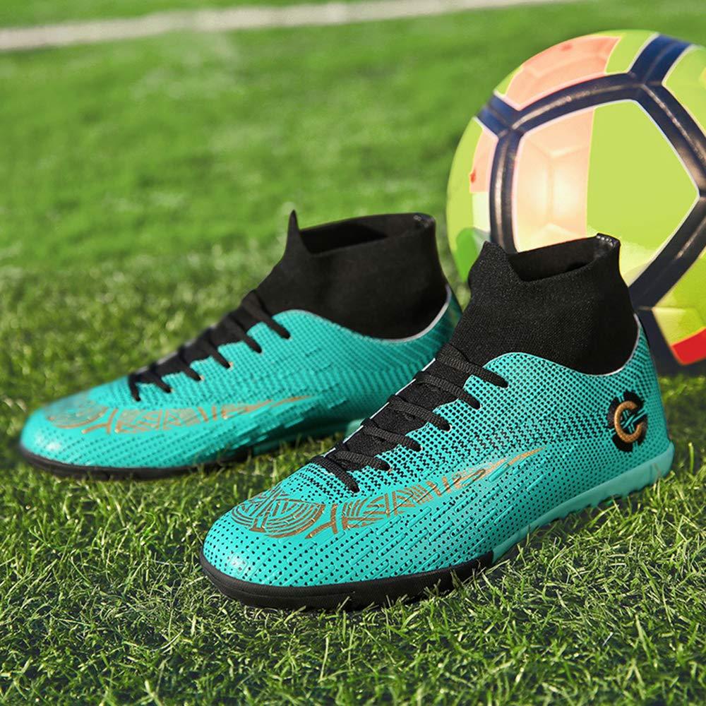 Scarpe da Calcio Uomo Tacchetti Scarpe Calcetto Unisex Allenamento Professionale Sneakers Sportivo Stringata Allaperto Indoor Nero Blu Verde 36-47