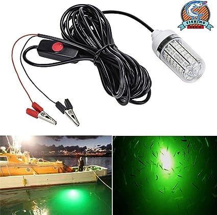 Green LED 12V lure bait finder Night Fishing Submersible Underwater Boat Light