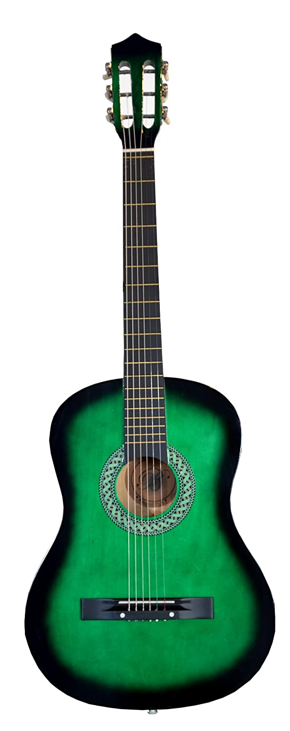 38 GREEN Acoustic Starter Guitar (7/8 Size) & DirectlyCheap(TM) Translucent Blue Medium ギターピック アコースティックギター アコギ ギター (並行輸入)