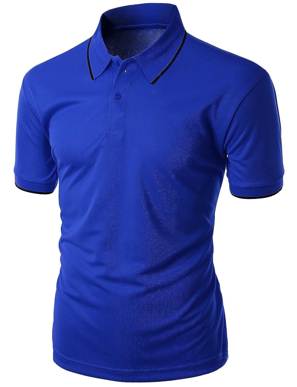 Xpril Men's Functional Coolmax Collar Short Sleeve POLO T-Shirt