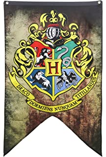 picture about Hogwarts Banner Printable identified as : Harry Potter Place Crests Wall Banner Present Mounted