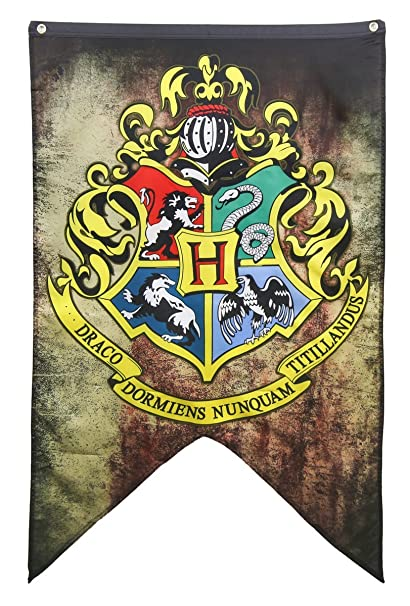 Amazon Com Harry Potter Hogwarts House Wall Banner 30 By 50
