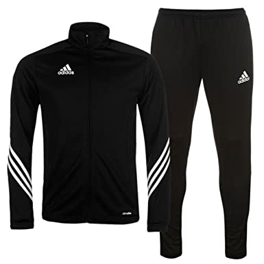 6ff38f1b52ee Adidas Kids Tracksuit Sereno Junior Boys Soccer Training Jog Suit Poly Track  Top Slim Fit