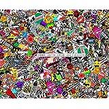 """Probrother® 60"""" x 20"""" JDM Panda CARTOON GRAFFITI Car Sticker BOMB WRAP SHEET DECAL STICKER"""