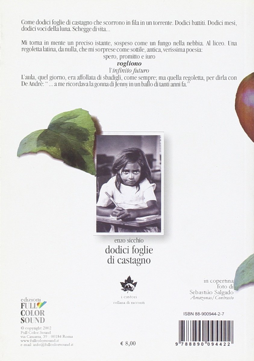 Sicchio itDodici Foglie Libri Di Enzo Amazon Castagno CWxdBoer