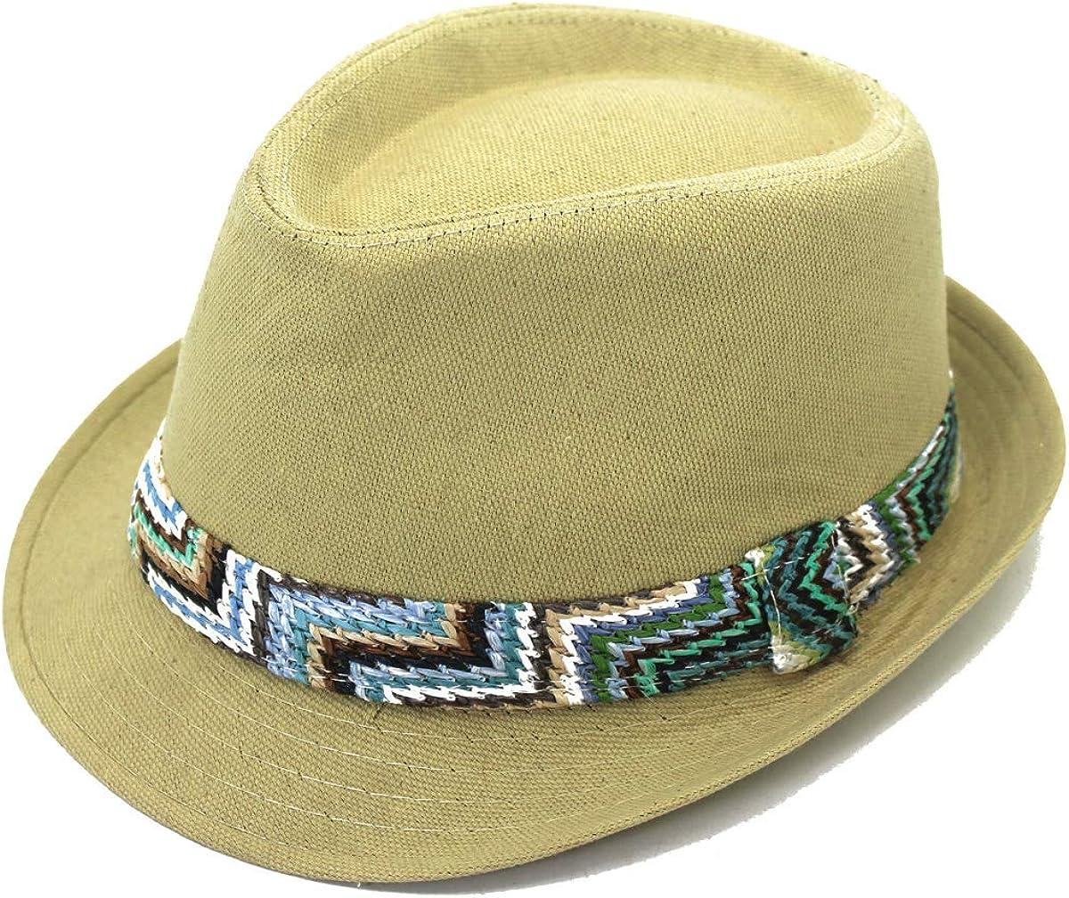 100/% algod/ón estilo panam/á Gorro unisex Fedora Trilby para verano color verde Outfly estilo panam/á