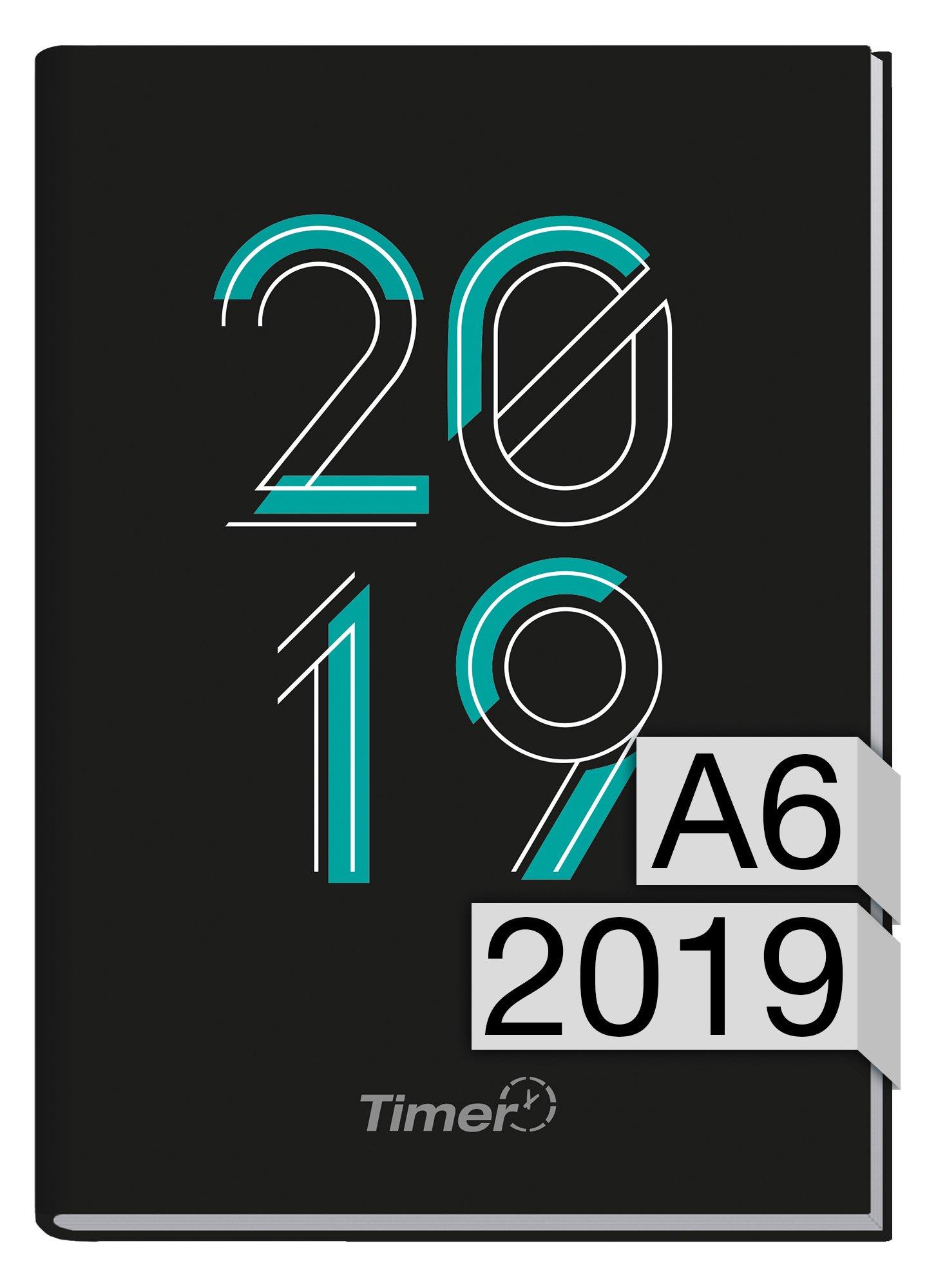 Chäff-Timer mini A6 Kalender 2019 [zweitausendneunzehn] 12 Monate Jan-Dez 2019 - Terminkalender mit Wochenplaner - Organizer - Wochenkalender