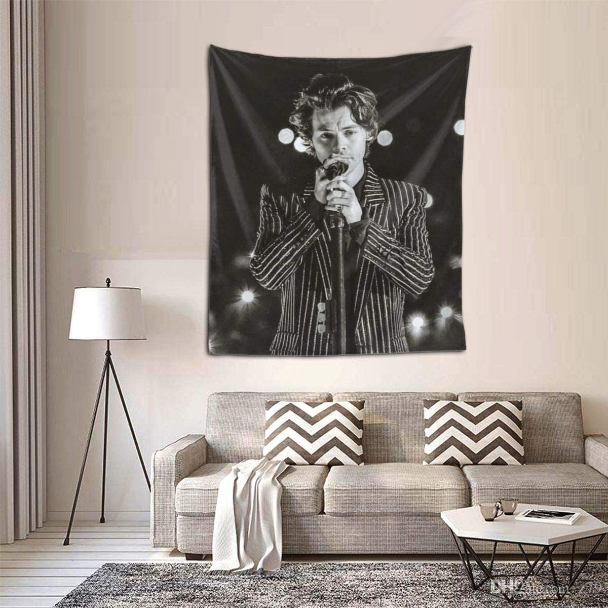 C-CASE Harry Styles Tapestry Wall Hanging Tapestries Wall Blanket Wall Art for Living Room Bedroom Home Decor 51 X 60 Inch