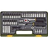 Proxxon 23280 Steckschlüsselsatz mit Knüppelratsche, 1/4 Zoll, 49-teilig