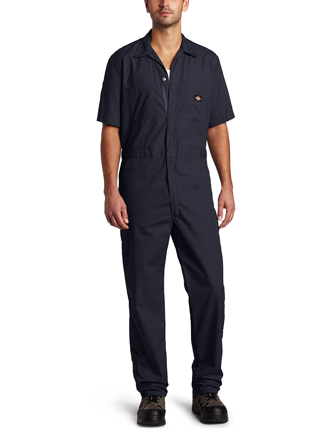 Men's Vintage Workwear Inspired Clothing Short-Sleeve Coverall  AT vintagedancer.com