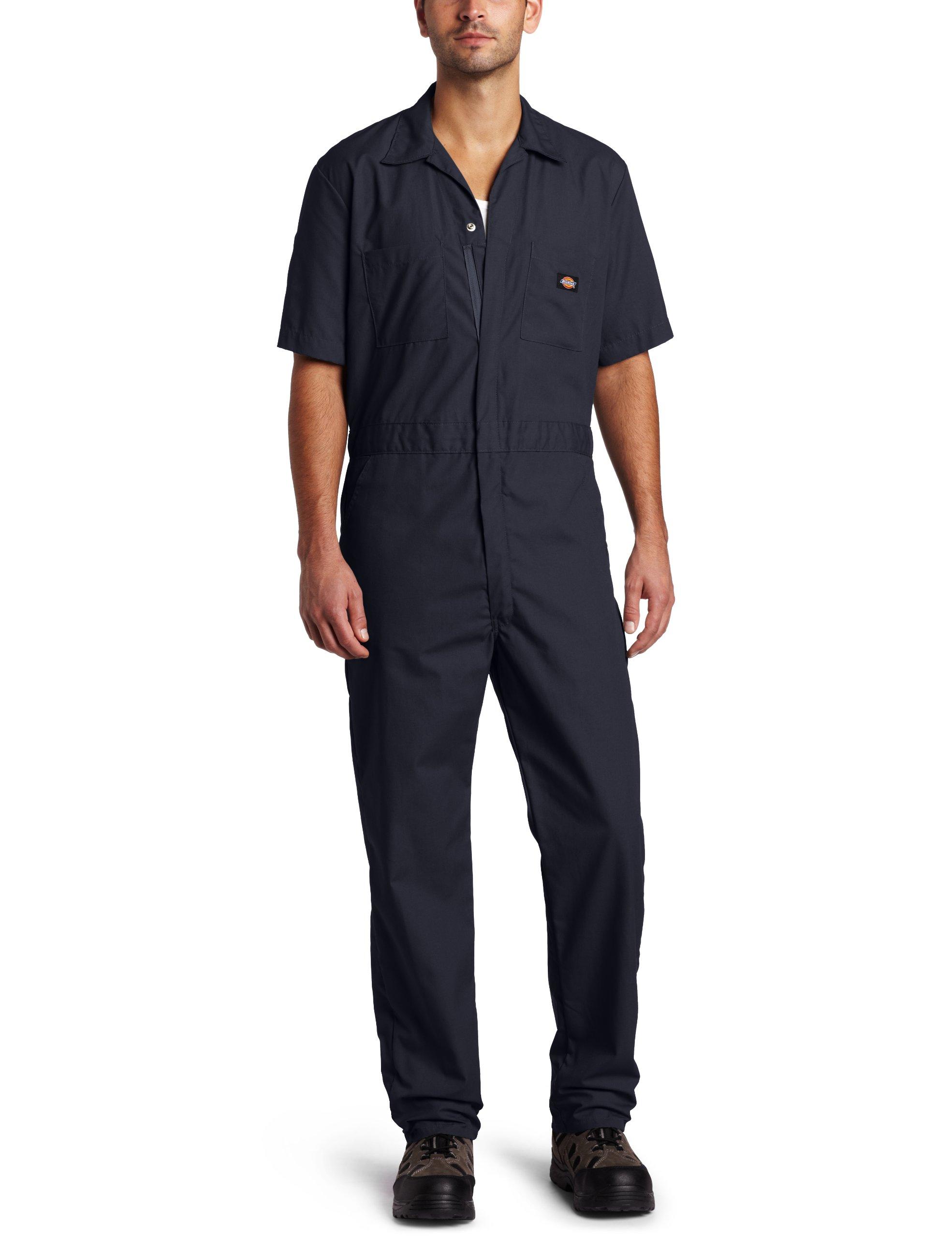 Dickies Men's Short Sleeve Coverall, Dark Navy, Small Regular