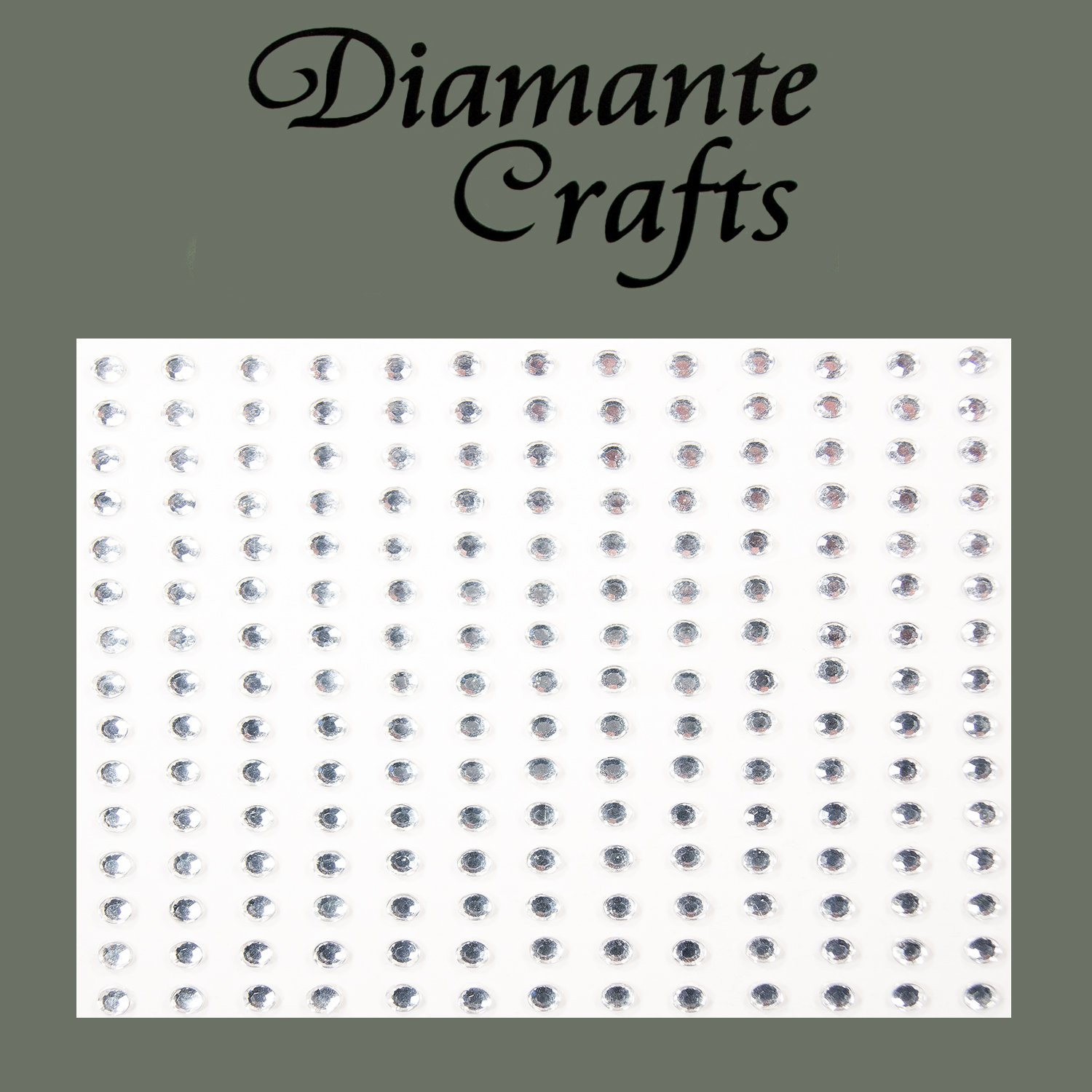 195 x 3mm Clear Diamante Self Adhesive Rhinestone Body Vajazzle Gems - created exclusively for Diamante Crafts