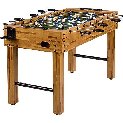 Maxstore Futbolín de mesa Glasgow con juego de accesorios, 2 portavasos, pies regulables en